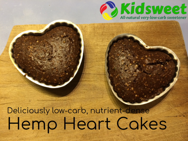 Chocolate Hemp Heart Cakes