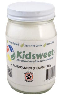 Kidsweet™ 16 fl oz in a glass jar