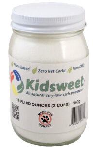 Kidsweet™ 16 fl oz in a glass jar